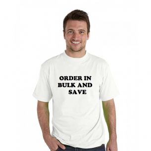 Adult's White T-Shirts  - ORDER MORE THAN 1 AND SAVE